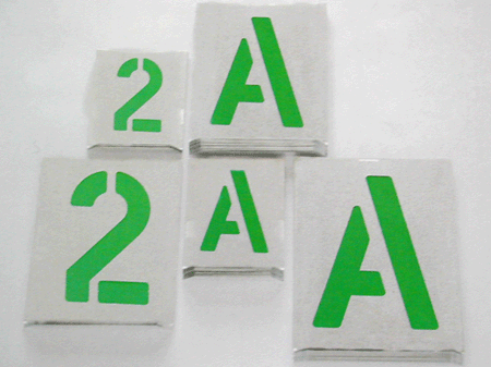 Plantillas Metalicas Estandar Letras Y Numeros Manufacturas