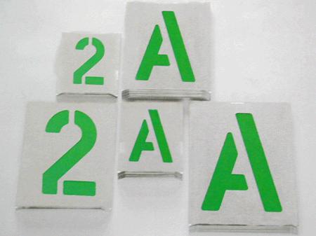 Plantillas met licas est ndar letras y n meros - Plantillas de letras para pintar en madera ...