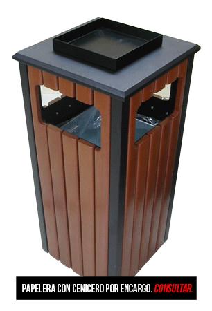 Papeleras exterior imitaci n madera manufacturas medrano - Imitacion madera para exterior ...